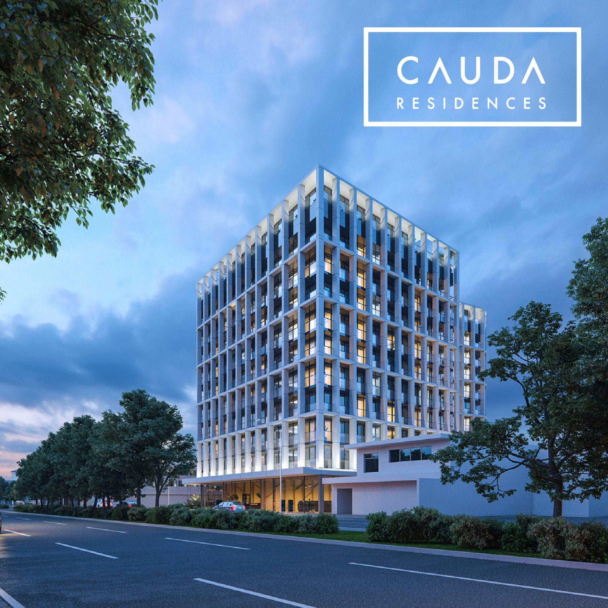 """Puede ser una imagen de edificios, rascacielos y texto que dice """"CAUDA RESIDENCES RESIDENCES TA"""""""